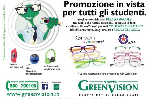 Promozione green Vision occhiali da vista bambino